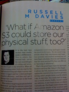 Russel M Jarvis in Wired UK - June Issue